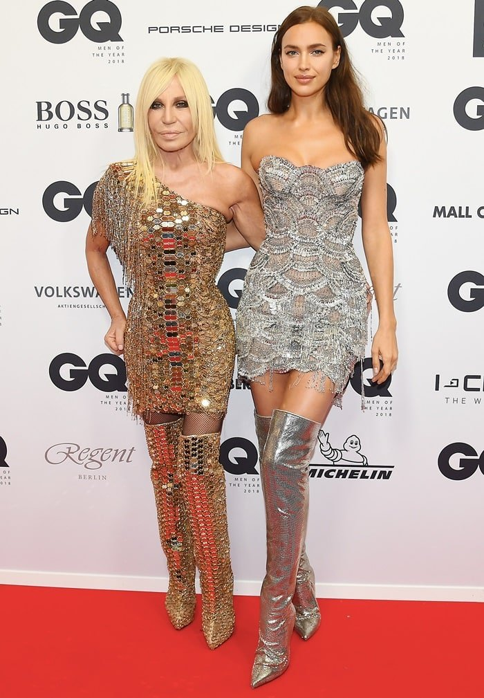 Donatella Versace and Irina Shayk attended the 20th GQ Men of the Year Award at Komische Oper in Berlin, Germany, on November 8, 2018