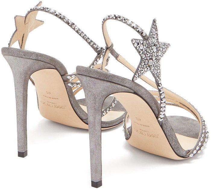 Anthracite Crystal-Embellished Star Lynn Sandals