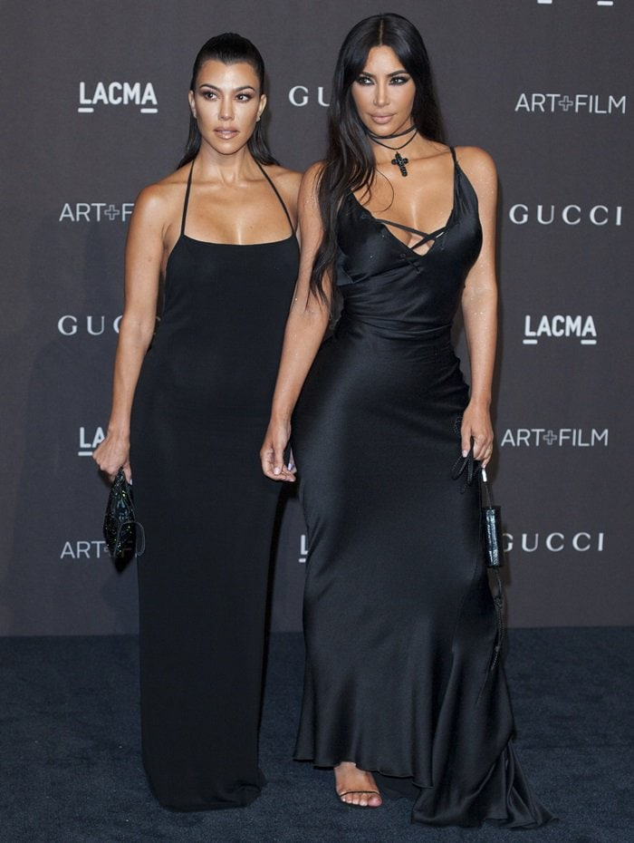 Kim Kardashian and her older sister Kourtney attended the 2018 LACMA Art + Film Gala presented by Gucci at LACMA in Los Angeles on November 3, 2018