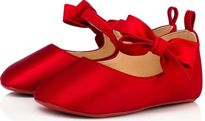 Elegant and timeless, the Loubi red baby shoes is the upmost iconic style