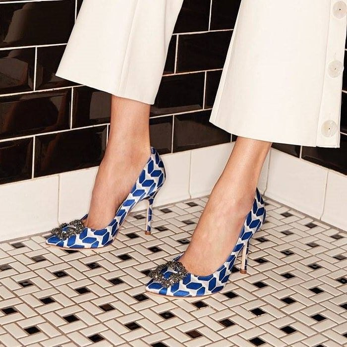 Blue Hangisi 105 Cosmo Embellished Pumps