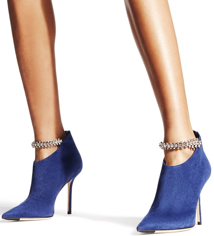 Blaize in pop blue suede is this season's statement piece for your wardrobe