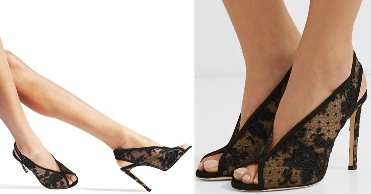 58d43606e3c Floral Hand-Cut Corded-Lace Shar Pumps by Jimmy Choo