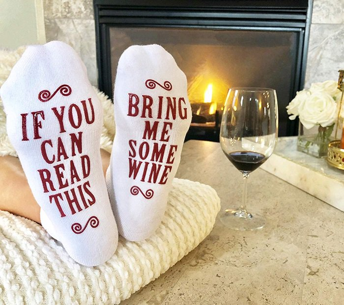 Shoe Wine Lover Socks