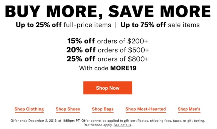 Shopbop Shoes Black Friday 2019