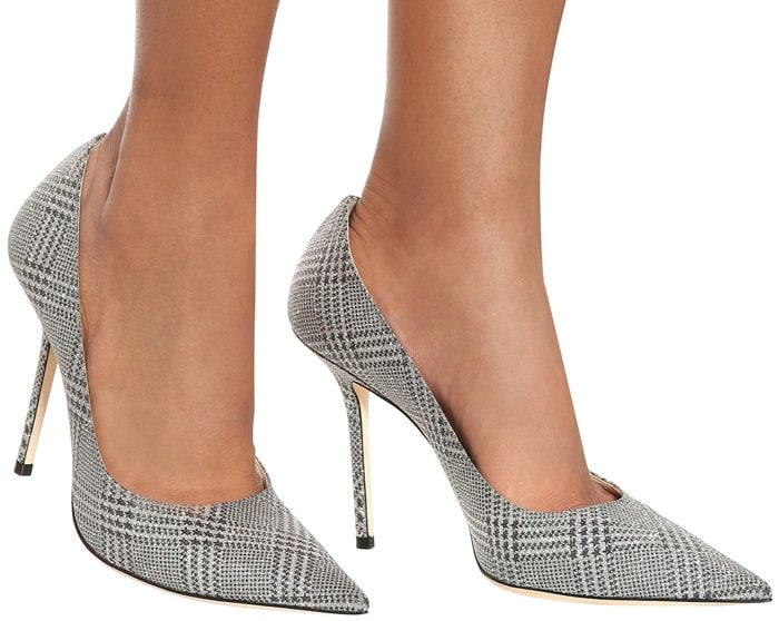 Silver Prince of Stars Glitter Pointy Toe Pump