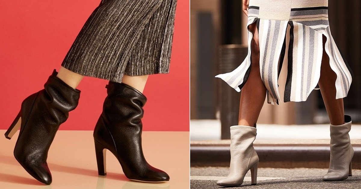 c078543fff8e Brooks Slouchy Leather Booties With Angled Block Heel