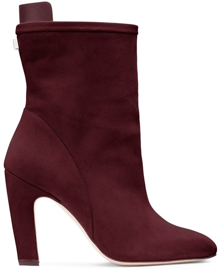 The Brooks mid-calf boots feature a suede shaft designed to be adjusted for either a slouchy or streamlined fit