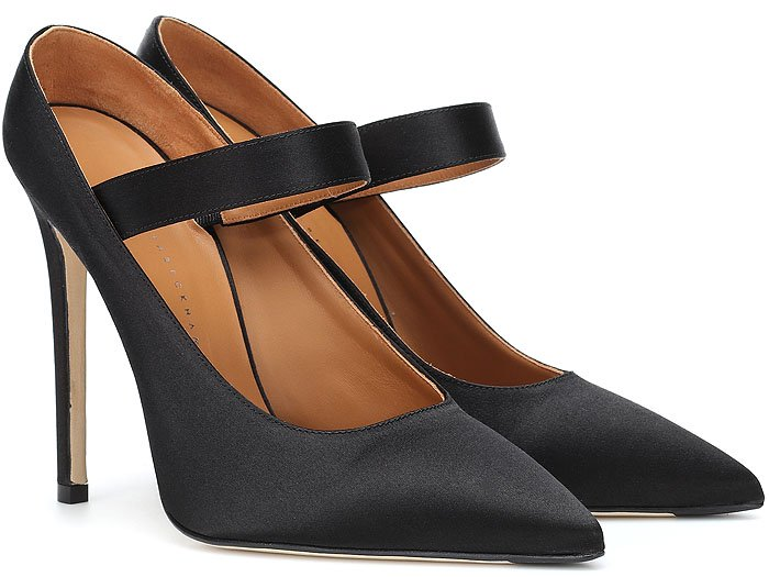 Victoria Beckham 'Solar' Mary-Jane Satin Pumps