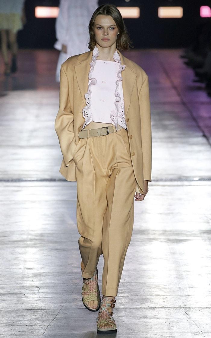 Alberta Ferretti Oversized Pleated Twill Pants