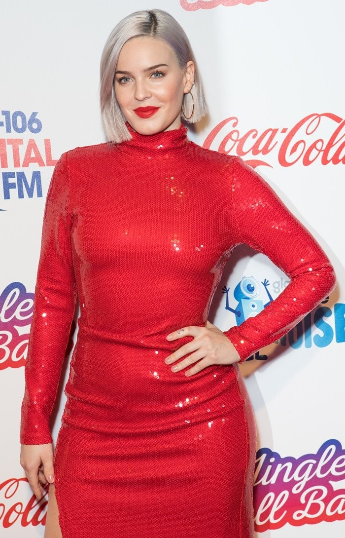 Anne-Marie at Capital FM's Jingle Bell Ball 2018 at The O2 Arena in Peninsula Square on London on December 8, 2018
