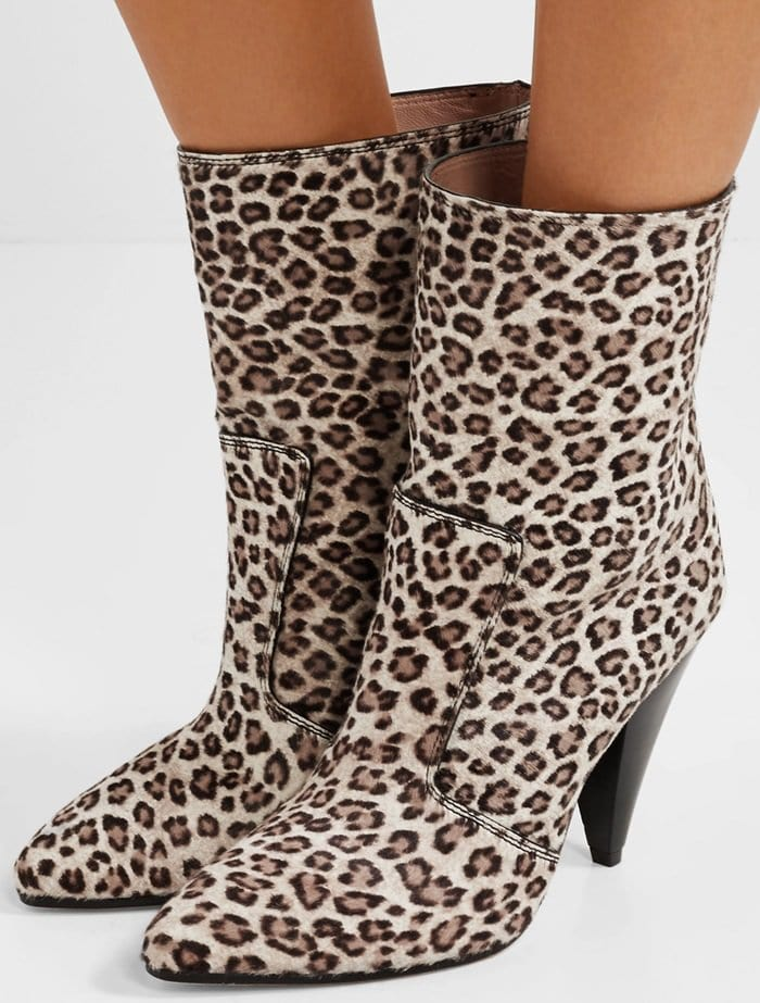 Stuart Weitzman's 'Atomic West' boots are designed in this season's must-have leopard print
