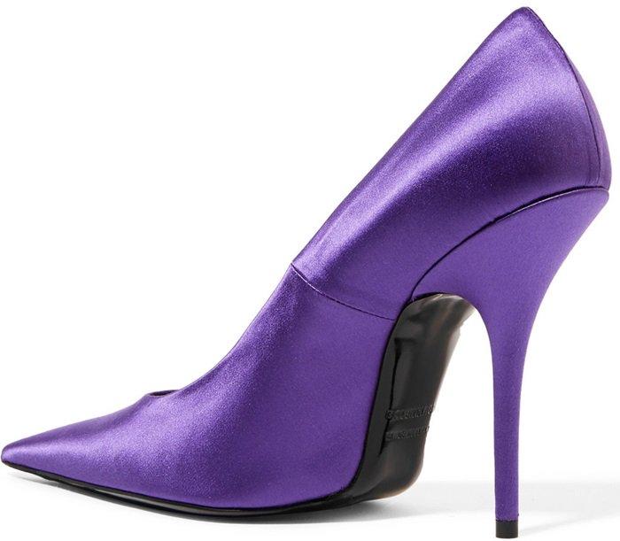Purple Satin Balenciaga Knife Pumps