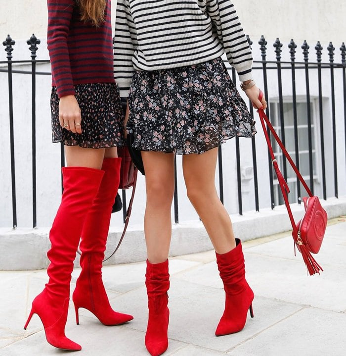 Dune London red boots