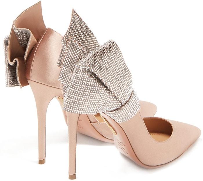 0467fee5ba14 Flash Dance Crystal Sandals With Bow Appliqué by Aquazzura