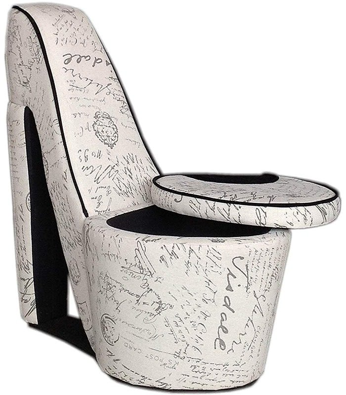 Classic High Heel Shoe Chair With Storage