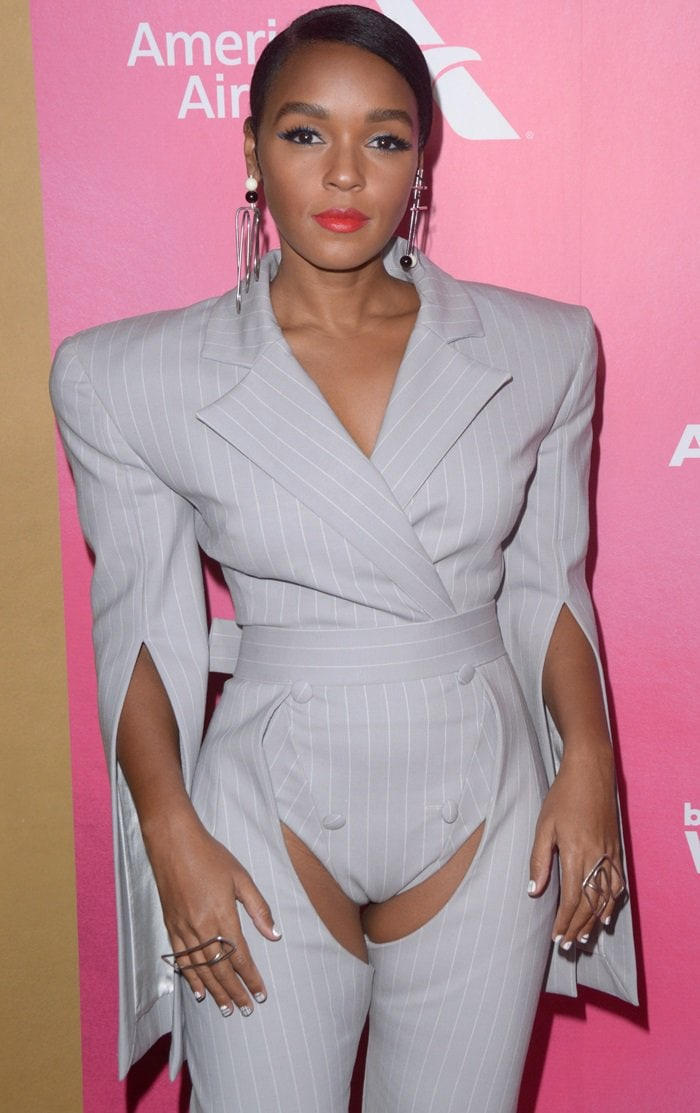 Janelle Monae's peek-a-boo crotch look at the 2018 Billboard's Women in Music Event