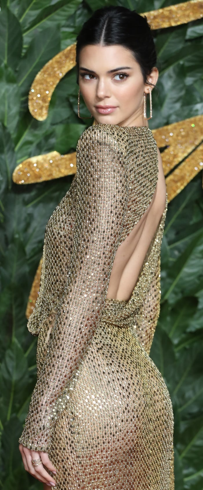 Kendall Jenner's sexy Julien Macdonald dress features an open back