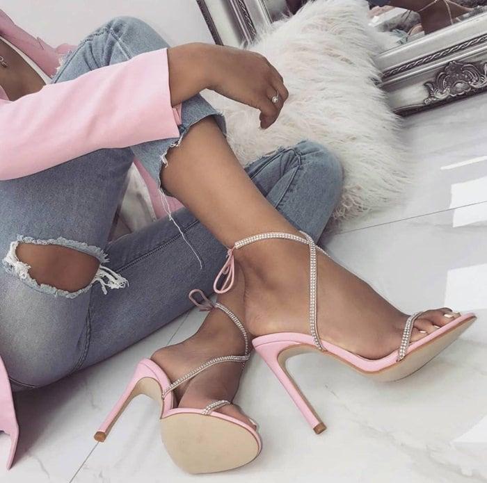 Korra Crystal-Embellished Sandals