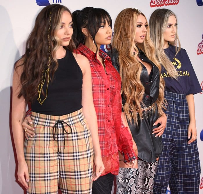 Jade Thirlwall, Leigh-Anne Pinnock, Jesy Nelson, and Perrie Edwardsat the 2018 Capital FM Jingle Bell Ball held at The O2 Arena in London, England, on December 9, 2018