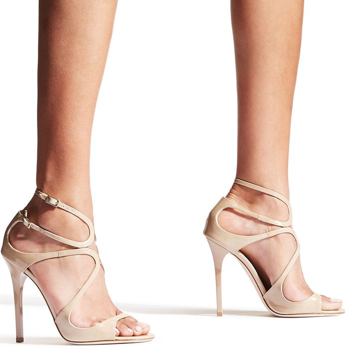 The delicate straps beautifully encase the foot and give support from heel to toe