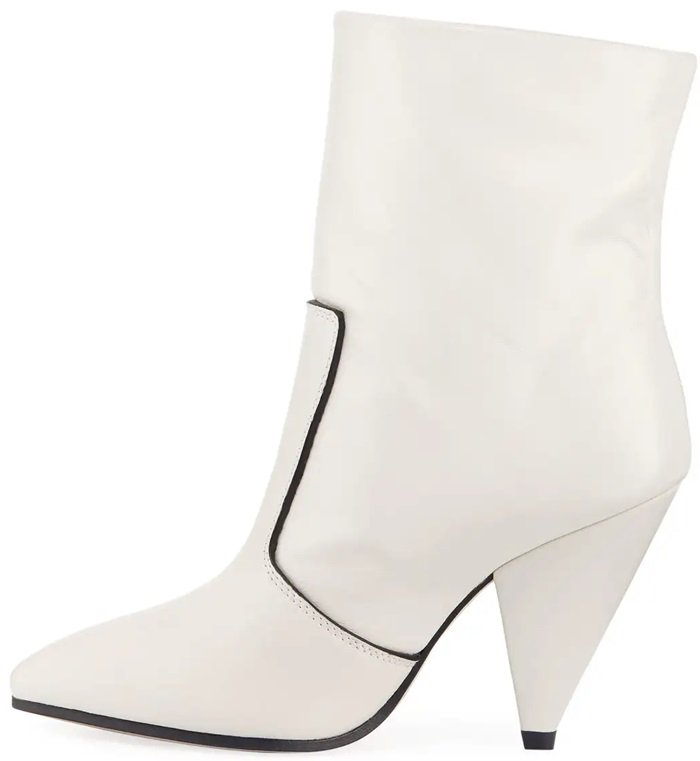 Oyster Atomic West Leather Ankle Boots