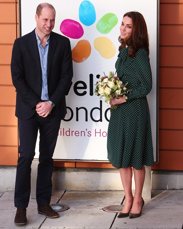The Duke and Duchess of Cambridge visit Evelina London Children's Hospital in London, England, on December 11, 2018