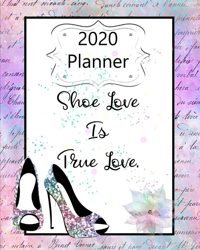 Purple Shoe Love Is True Love Planner