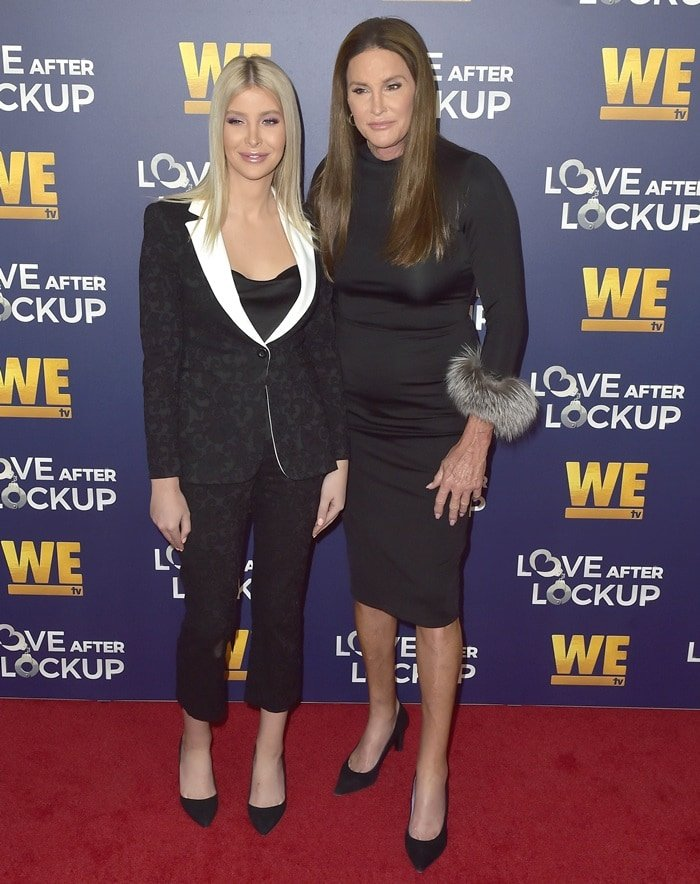 Sophia Hutchins and Caitlyn Jenner attend WE TV celebrates the return of 'Love After Lockup' with panel 'Real Love: Relationship Reality TV's Past, Present & Future,' at The Paley Center for Media in Beverly Hills on December 11, 2018