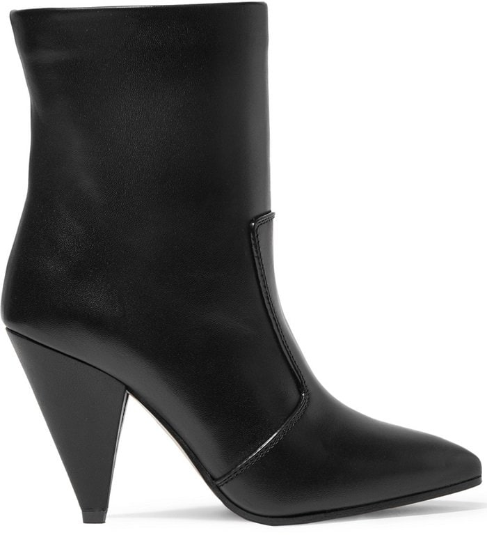 Black Atomic West Leather Ankle Boots