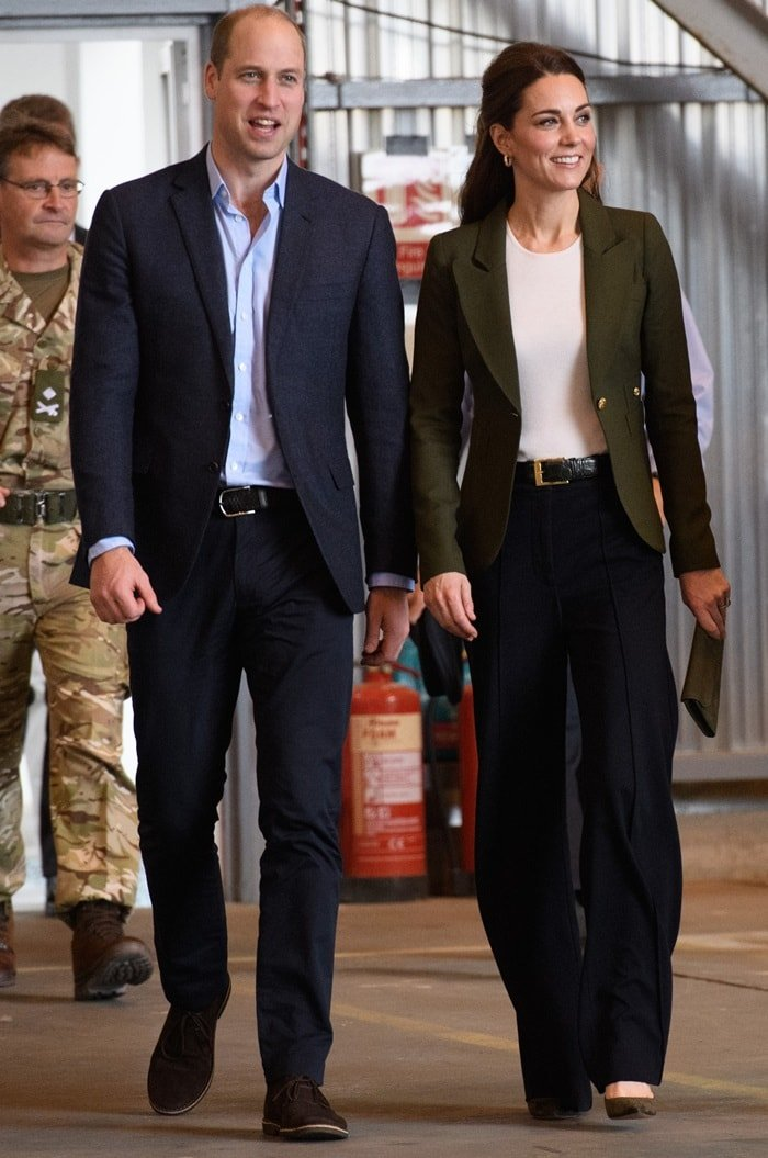 The Duke and Duchess of Cambridge visit service personnel at RAF Akrotiri in Cyprus on December 5, 2018