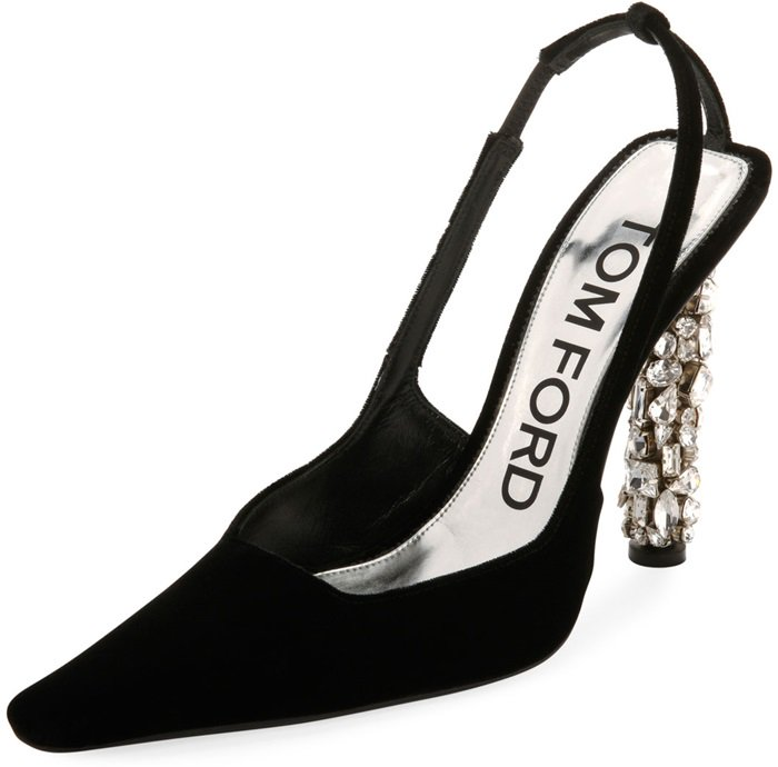 620efa4f17d5 Velvet Crystal-Heel and Knotted Crystal Bow Pumps by Tom Ford