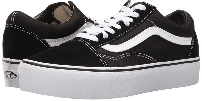 The Vans Old Skool, with the iconic side stripe, is a low top lace-up with re-enforced toecaps to withstand repeated wear, signature rubber waffle outsoles, and padded collars for support and flexibility.