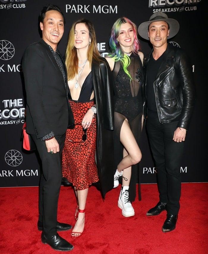 Mark Houston, Bella Thorne, Dani Thorne, and Jonnie Houston in Las Vegas