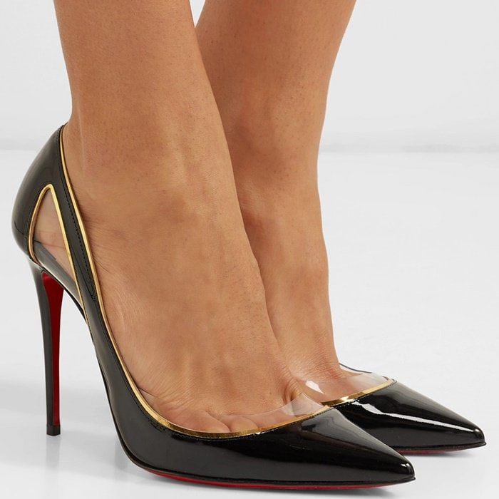 When working with a tried-and-tested style, you can always afford to go a little bolder on the details, and thesegorgeous pointy-toe heels finished with the brand's unmistakable sole are the perfect example