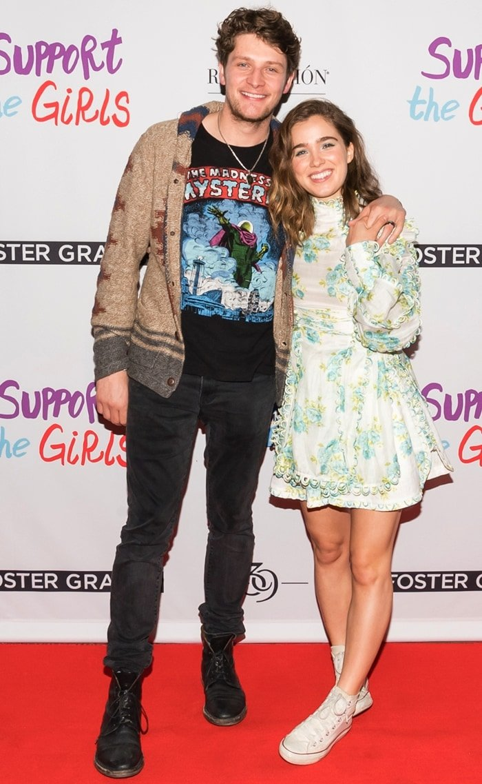 Brett Dier and Haley Lu Richardson attend the Supper Suite hosts premiere party for 'Support The Girls' sponsored by Foster Grant, Blue Moon, Line 39 and Revolucion Tequila in Austin, Texas, on March 9, 2018