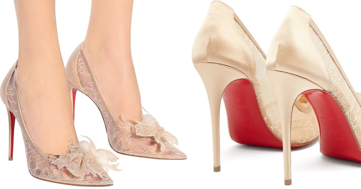 Delicatissima With Floral Lace Trim by Christian Louboutin