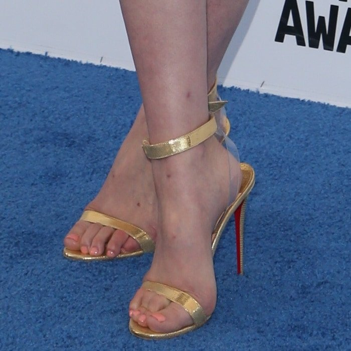 new arrival 874a8 02961 Sexy Celebrity Feet in Jonatina PVC Sandals by Louboutin