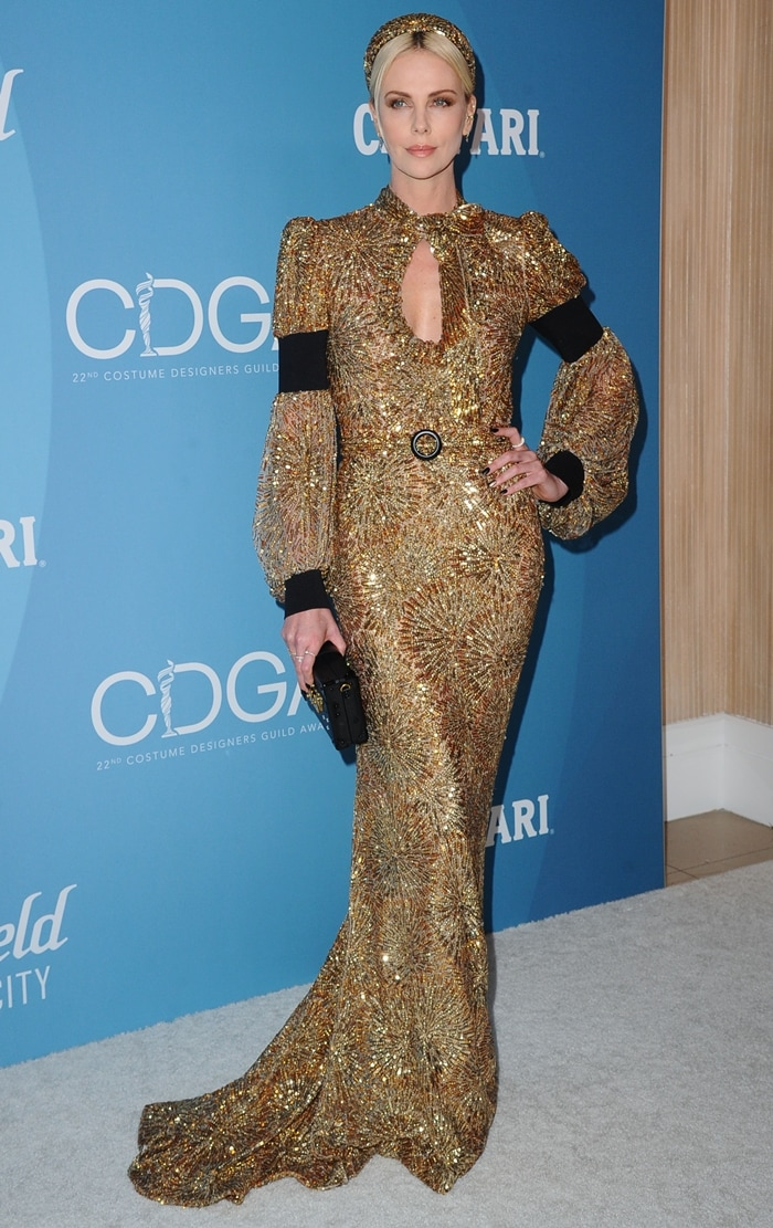 One of the highest-paid actresses in the world, Charlize Theron looks stunning in Louis Vuitton while attending the 2020 Costume Designers Guild Awards