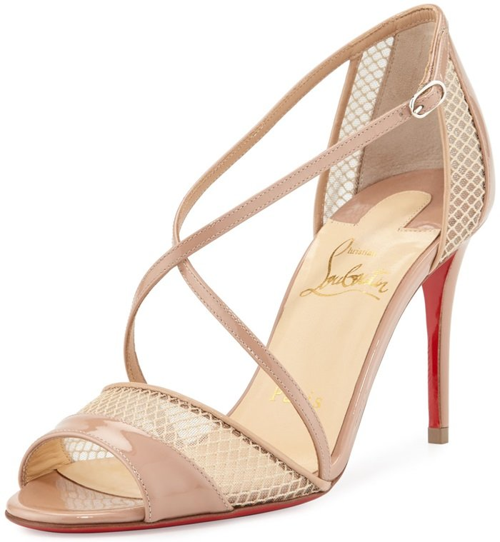 Nude Slikova Strappy Red Sole Sandals