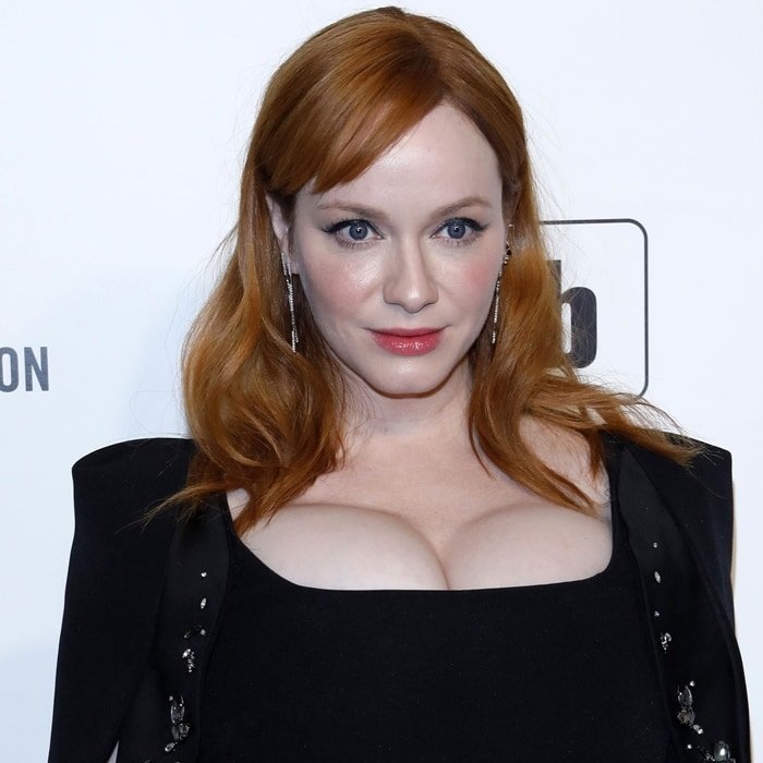 Christina Hendricks says anyone who touches her boobs will realize they are real