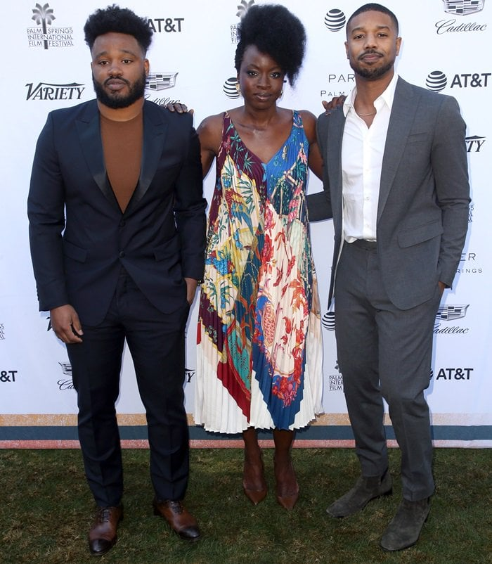 Danai Gurira and Michael B. Jordan stepped out to support director Ryan Coogler