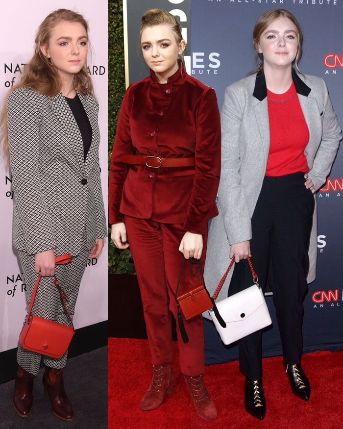 Elsie Fisher wearing different suit