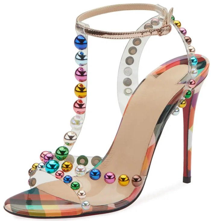 Faridavavie See Through And Bauble Studded Sandals By