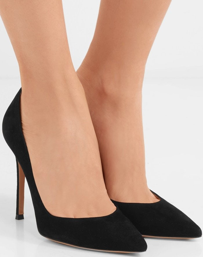 Gianvito Rossi's black suede pumps are timeless