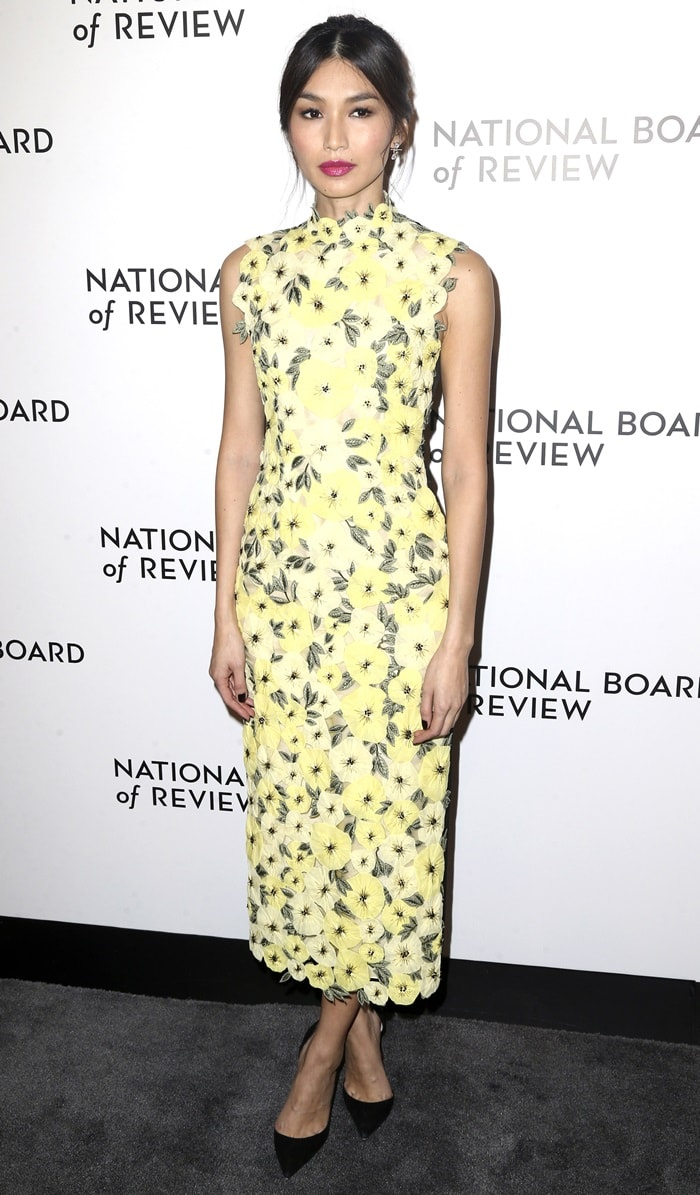Gemma Chan looked lovely at the 2019 National Board of Review Awards Gala at Cipriani in New York City on January 8, 2019