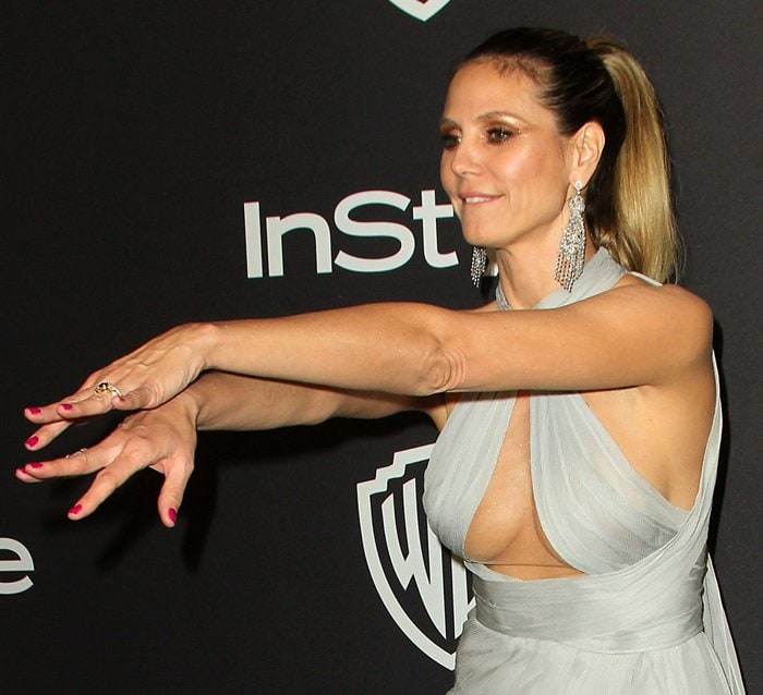 Heidi Klum showed off the latest addition to her growing collection of engagement rings