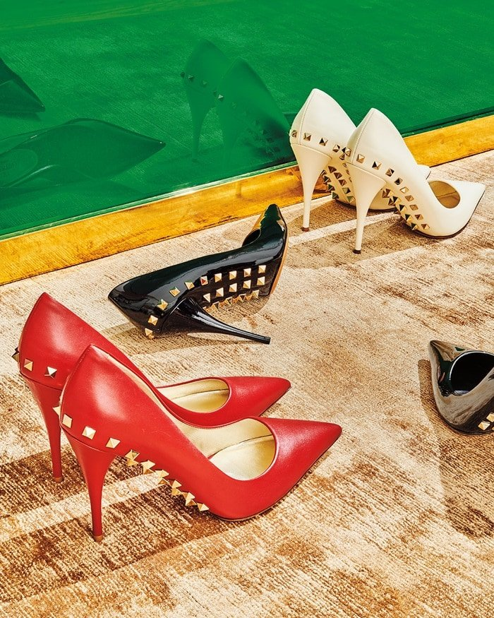 Add a tough-luxe finish to new-season looks the Jaw Studs pumps from with Valentino Garavani