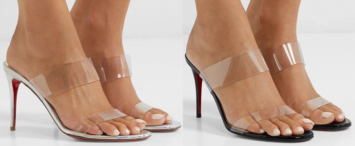 Just Nothing PVC and Metallic Leather Mules by Christian Louboutin