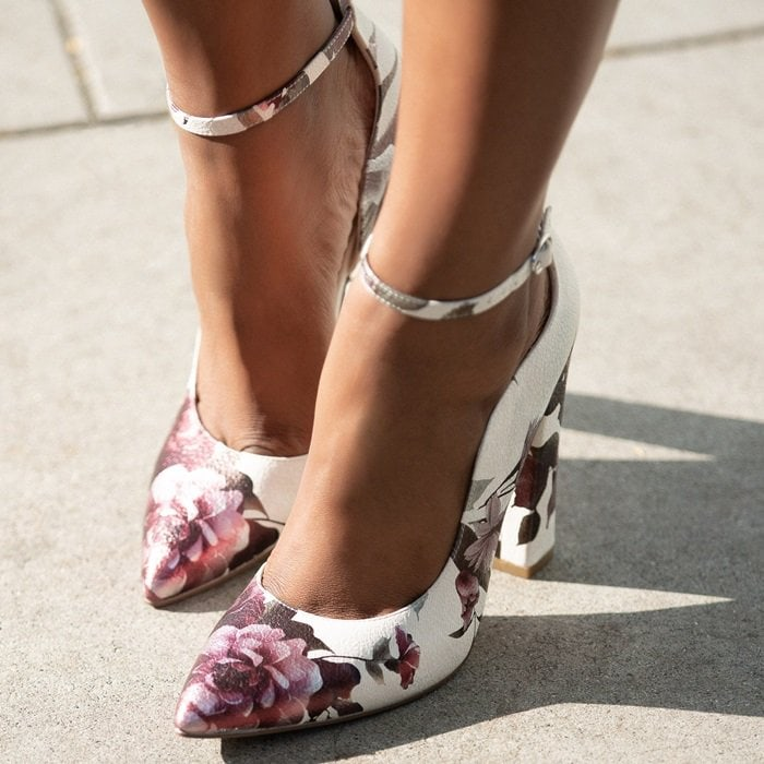 235da6a317b848 What to Wear With Floral Print Heels, Sandals and Shoes